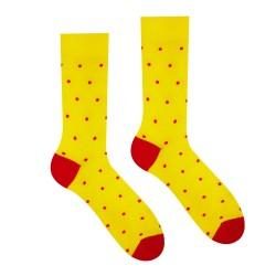 Veselé ponožky HESTY - Žltý Gentleman