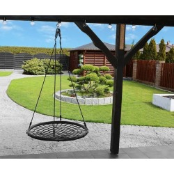 Kruhová hojdačka sieť 100cm čierna