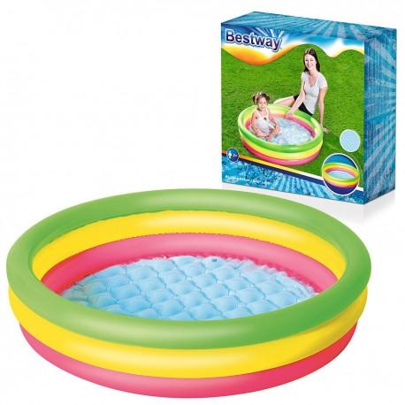 Farebný nafukovací detský bazén 102x25cm - BESTWAY 51104