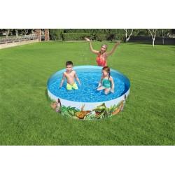Detský bazén Jurský park 147x147x122cm BESTWAY