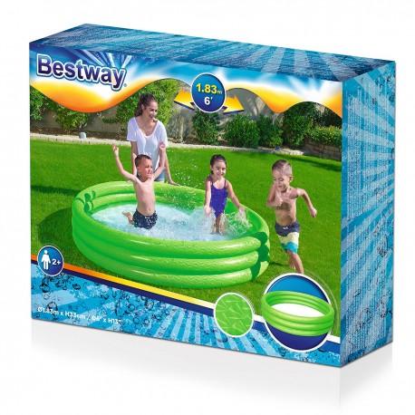 51027 BESTWAY Detský bazén jednofarebný 188x33xm BESTWAY Zelená