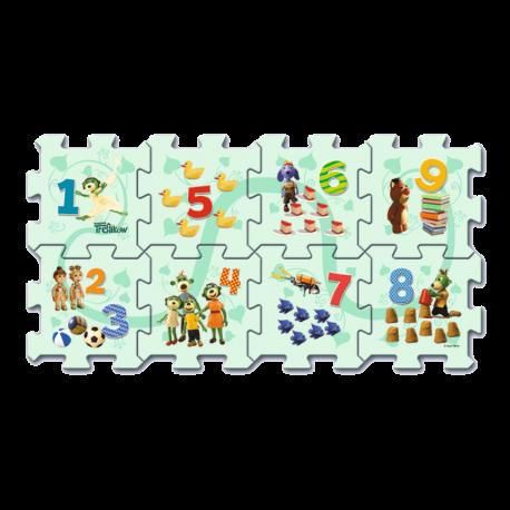 61005 TREFL Penové puzzle na zem - Počítanie s Treflíky 8ks