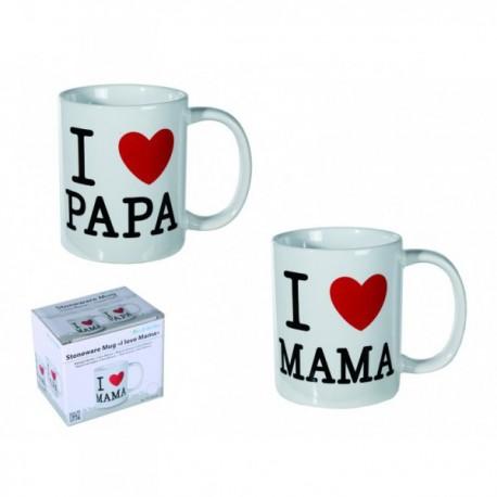 Hrnček I LOVE MAMA / PAPA