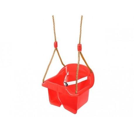 9919 Malatec Plastová hojdačka pre deti s popruhom a operadlom