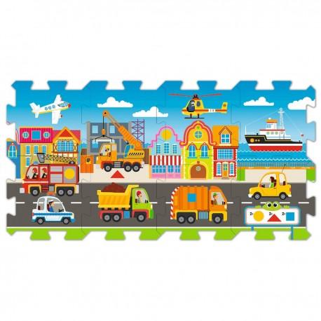 60754 TREFL Penové puzzle na zem - Dopravné prostriedky 8ks