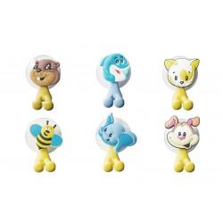 Vtipné držiaky na zubnú kefku Zvieratká 6 rôznych modelov