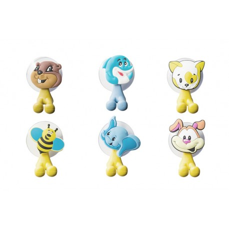 DR Vtipné držiaky na zubnú kefku Zvieratká 6 rôznych modelov