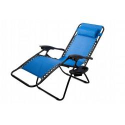 Skladacie plážové kreslo Modré