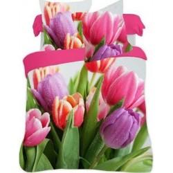Bavlnené posteľné obliečky 3D Tulipány color140x200, 70x80