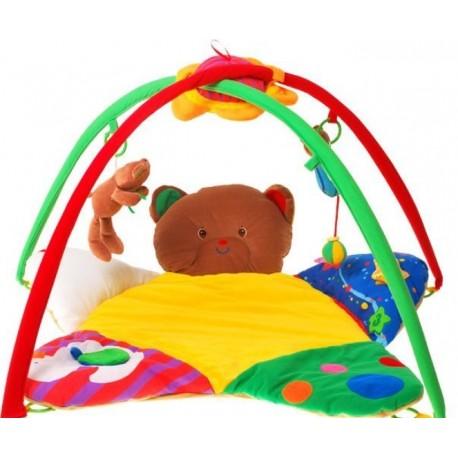 ZA0690 DR Detská deka s hrazdičkou plyšový medvedík