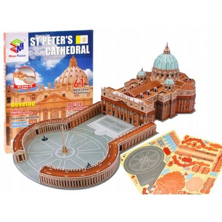 3D puzzle bazilika sv.Petra vo Vatikáne