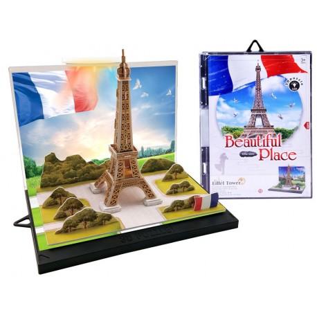 ZA2887 DR Puzzle 3D Eiffelova veža 23ks + LED svetlo