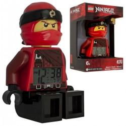 Budík Lego Ninjago Kai červený