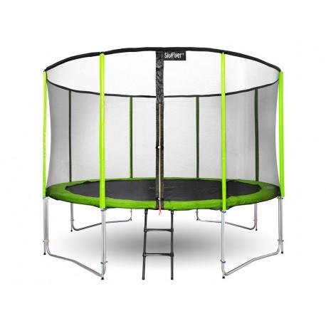 Trampolína SKY FLYER RING 2v1 304cm - zelená
