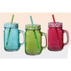 Farebný smoothie pohár so slamkou 450ml
