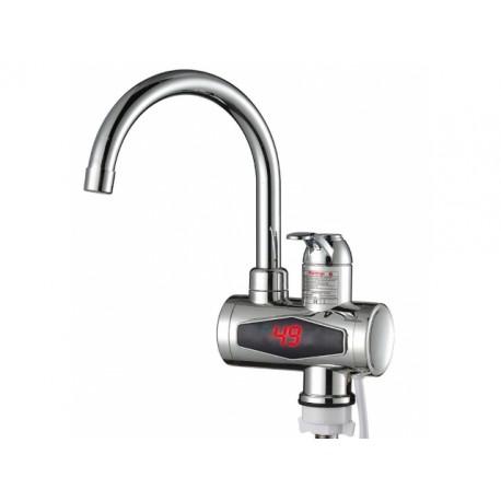 4444 Chrómový elektrický prietokový ohrievač vody LCD 3KW