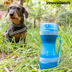 Fľaša s nádobou na vodu a jedlo pre domácich miláčikov 2v1