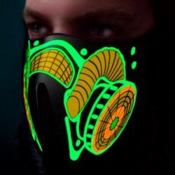 Zvukovo senzitívna LED maska