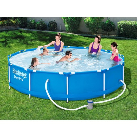 56681 BESTWAY Záhradný bazén Steel Pro s kovovou konštrukciou a kartušovou filtráciou Bestway (366x76cm)