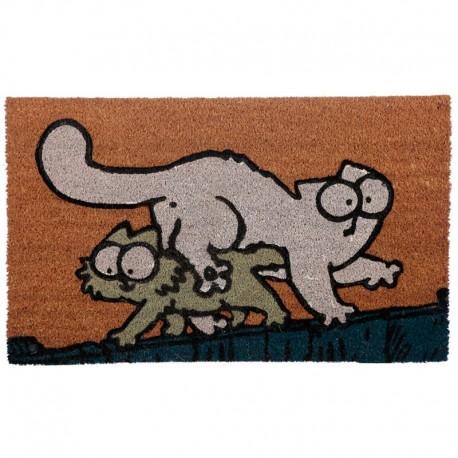 757662 DR Rohožka z kokosového vlákna Simonova mačka s mačiatkom