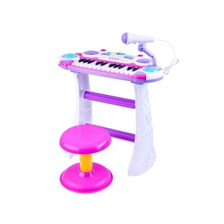 IN0009 DR Detský keyboard s mikrofónom a stoličkou