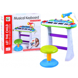 Detský klavír so stoličkou - Musical Keyboard