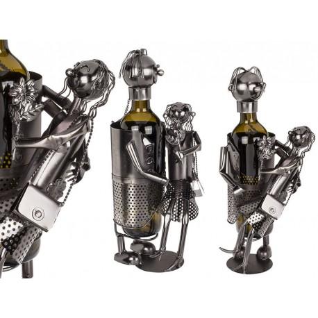 Kovový stojan na víno - zamilovaný pár
