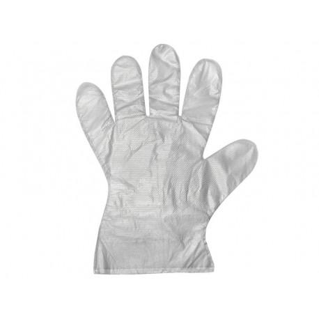 DR Jednorázové mikroténové HDPE rukavice 100ks balenie