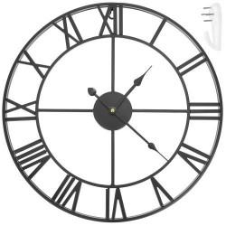 Retro hodiny 47,5cm - čierne