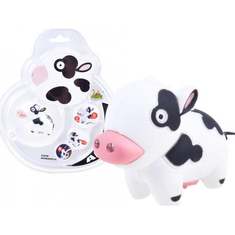 3526 Kľúčenky - zvieratka s LED svetlom a zvukom Krava