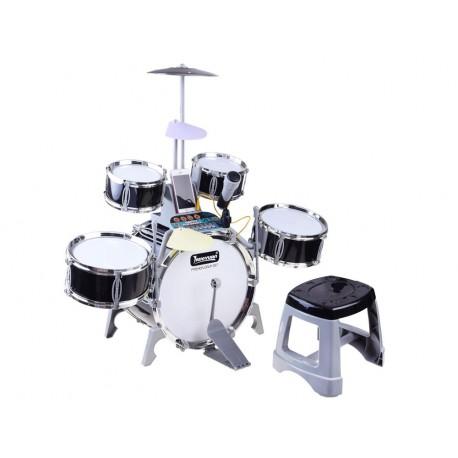IN0110 Dětské bubny s mikrofonem, klávesnicí a osvětlením - Performer