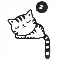 Samolepka na vypináč Mačička, 10,3x13 cm