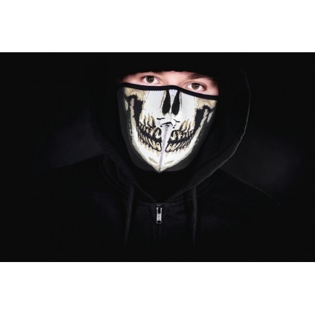 Neoprénová maska na tvár - lebka