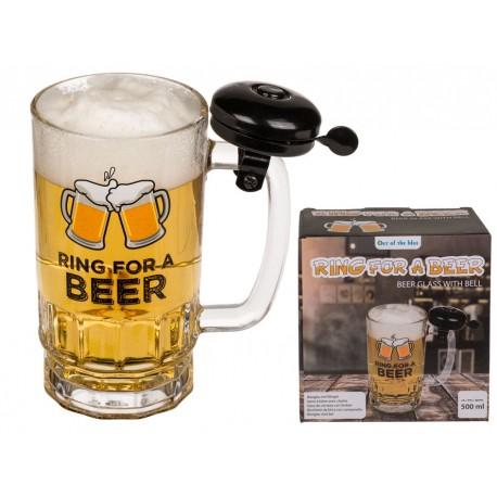 Pohár na pivo so zvončekom - 500ml