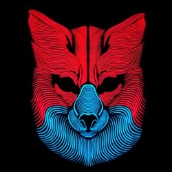 Svietiaca maska - vlk