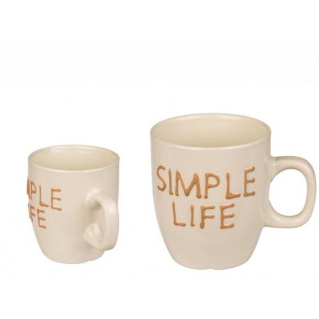 101964 DR Sada dvoch hrnčekov Simple Life 2ks - 180 ml