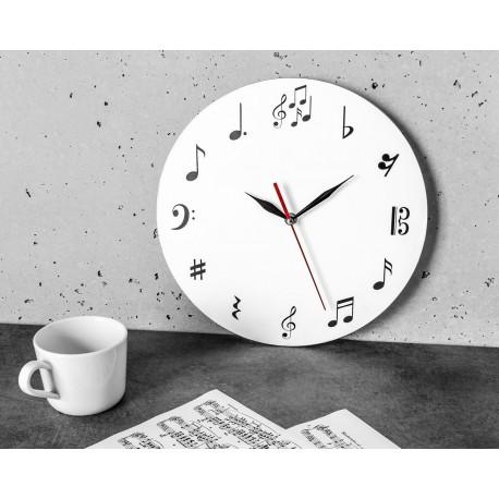 Nástenné hodiny s notami