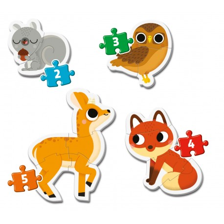 20814 Detské puzzle - lesné zvieratká