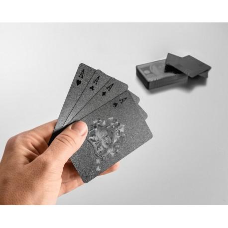 Plastové čierne karty