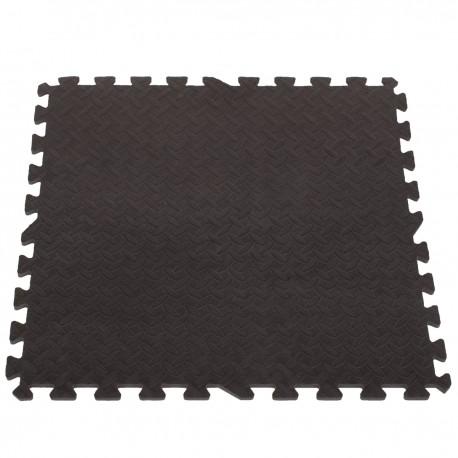 EVA Penové puzzle na zem 60x60 - 4ks Čierna