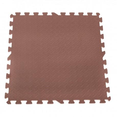 EVA Penové puzzle na zem 60x60 - 4ks Hnedá