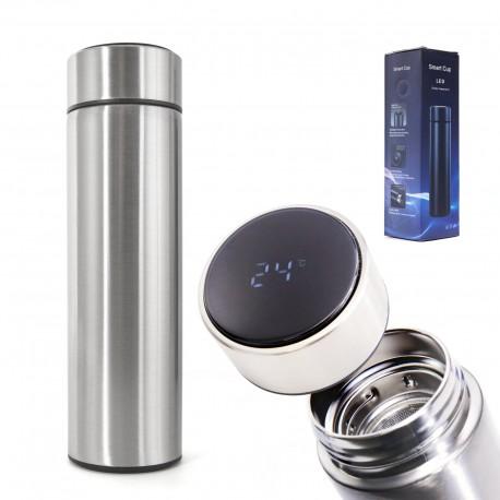 11160 DR Digitální termoska 500 ml Stříbrná