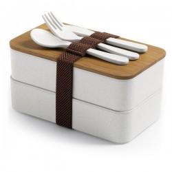 Dvojdielny bambusový box na jedlo - 2x 700 ml