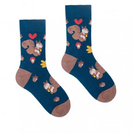 HESTY Veselé ponožky HESTY - Veveričiak – Detské 25-29