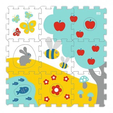 61261 Detské rozprávkové penové puzzle na zem - 9ks