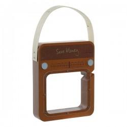 Pokladnička drevené rádio