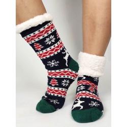 Termo dámske protišmykové ponožky 20-01 Sobík zeleno čierne