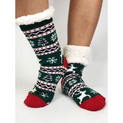 Termo dámske protišmykové ponožky 20-01 Sobík zelené