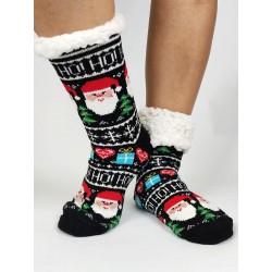 Termo dámske protišmykové ponožky 20-01 čierne Mikuláš