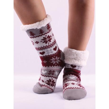 Termo dámske protišmykové ponožky kvietok 11